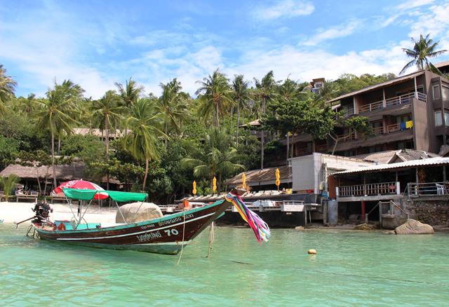 タオ島のリゾートホテル。リッチなコテージに泊まっても1万円程度とコスパがいい