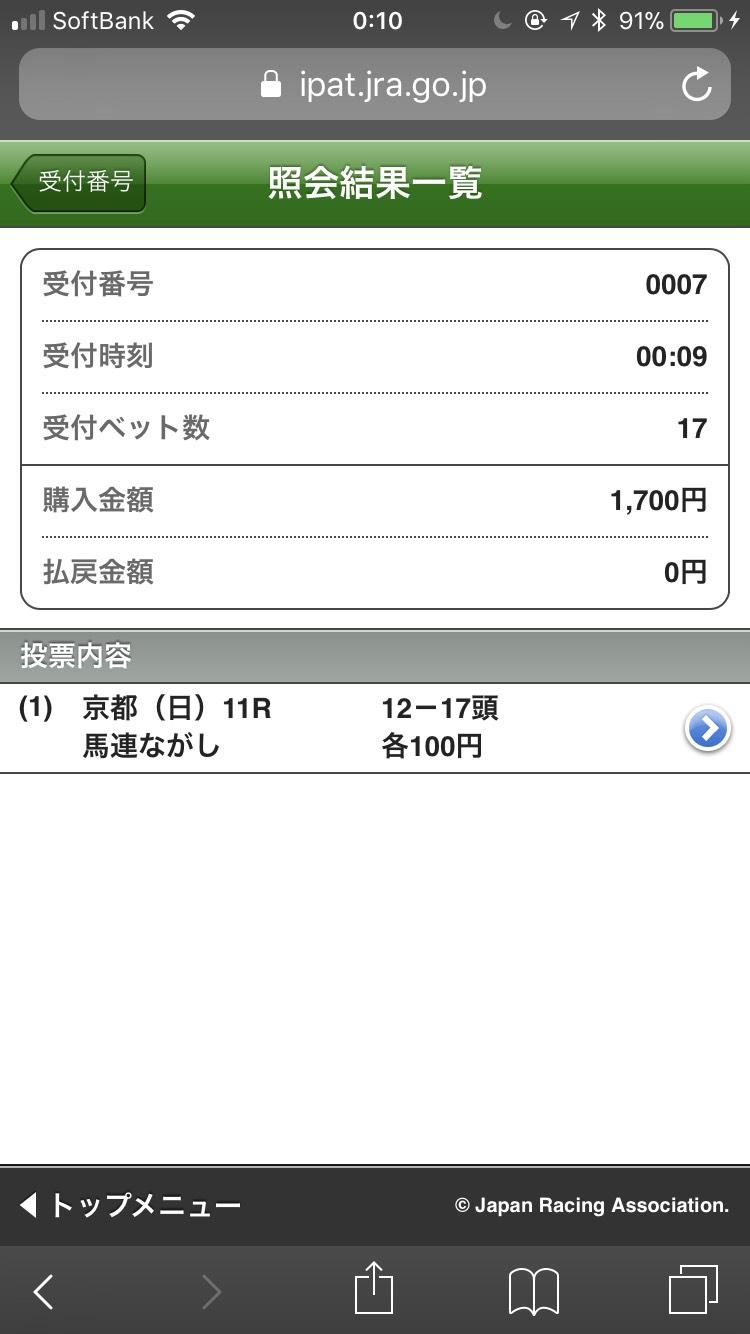 菊花賞 馬連12