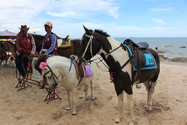 馬に乗ってビーチを散歩