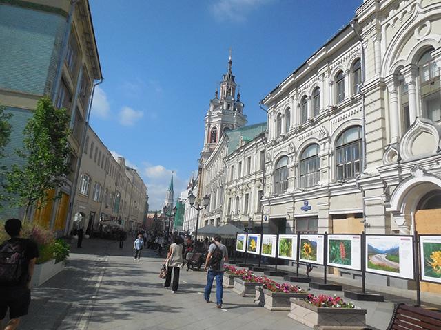 モスクワの中心街はかなり都会