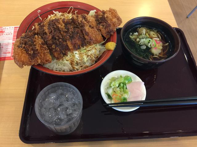 ソースカツ丼セット1200円は美味!