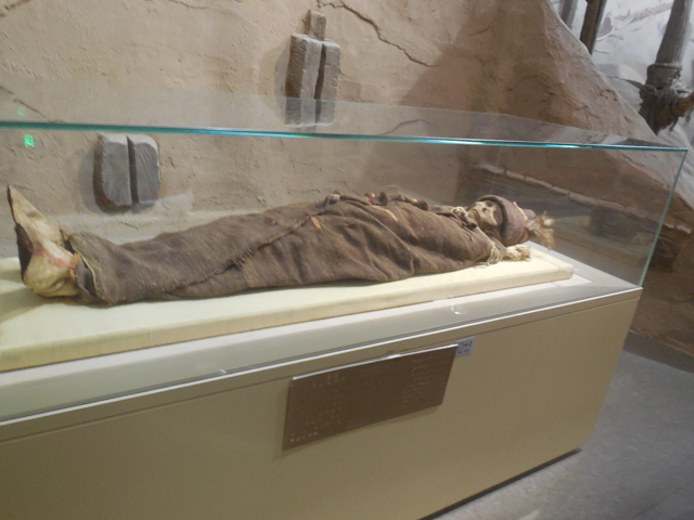 同博物館はミイラが有名のようだ。なかなか良かった