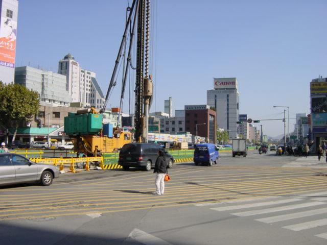当時のソウル市内はやたら工事が多かった記憶が有る