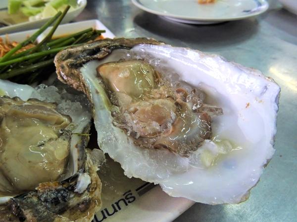 タイの生牡蠣。鮮度や安全性は自分の舌で判断すること。