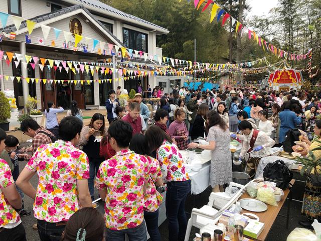 タイ人、タイと関わりを持つ日本人が集まり、とっても盛り上がった2019ソンクランin八王子