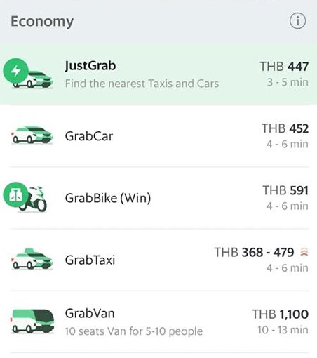 配車アプリ「Grab(グラブ)」
